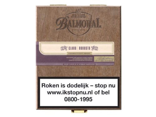 Balmoral Royal Selection Claro Robusto Box
