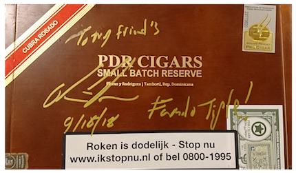 PDR Small Batch Robusto Gesigneerd